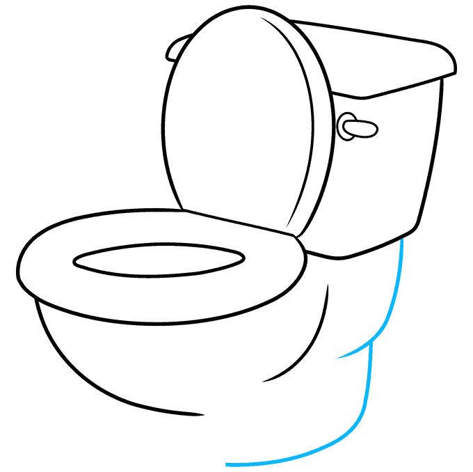 How to Draw Toilet: Step 8