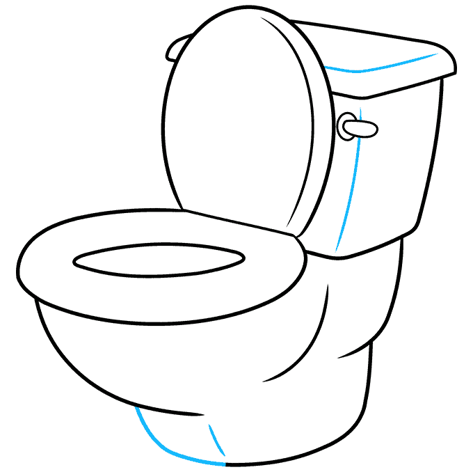 How to Draw Toilet: Step 9