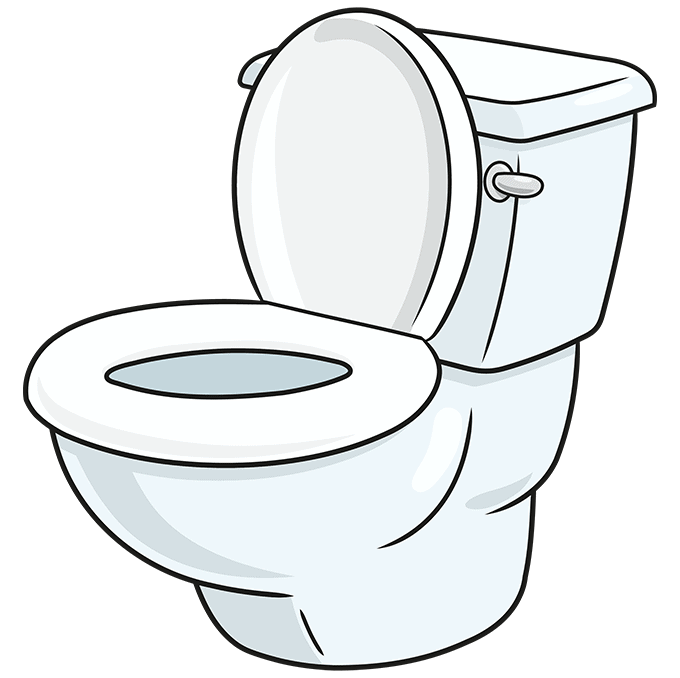 How to Draw Toilet: Step 10