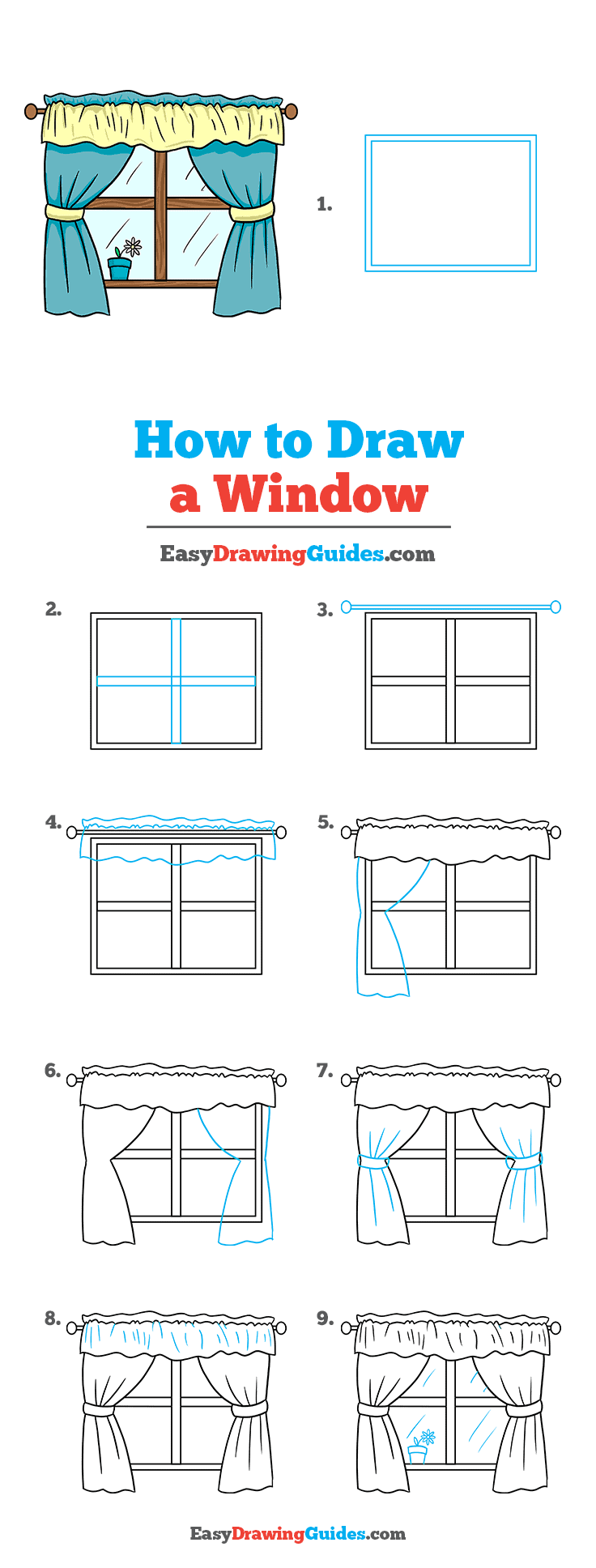 How to Draw a Window Step by Step Tutorial Image