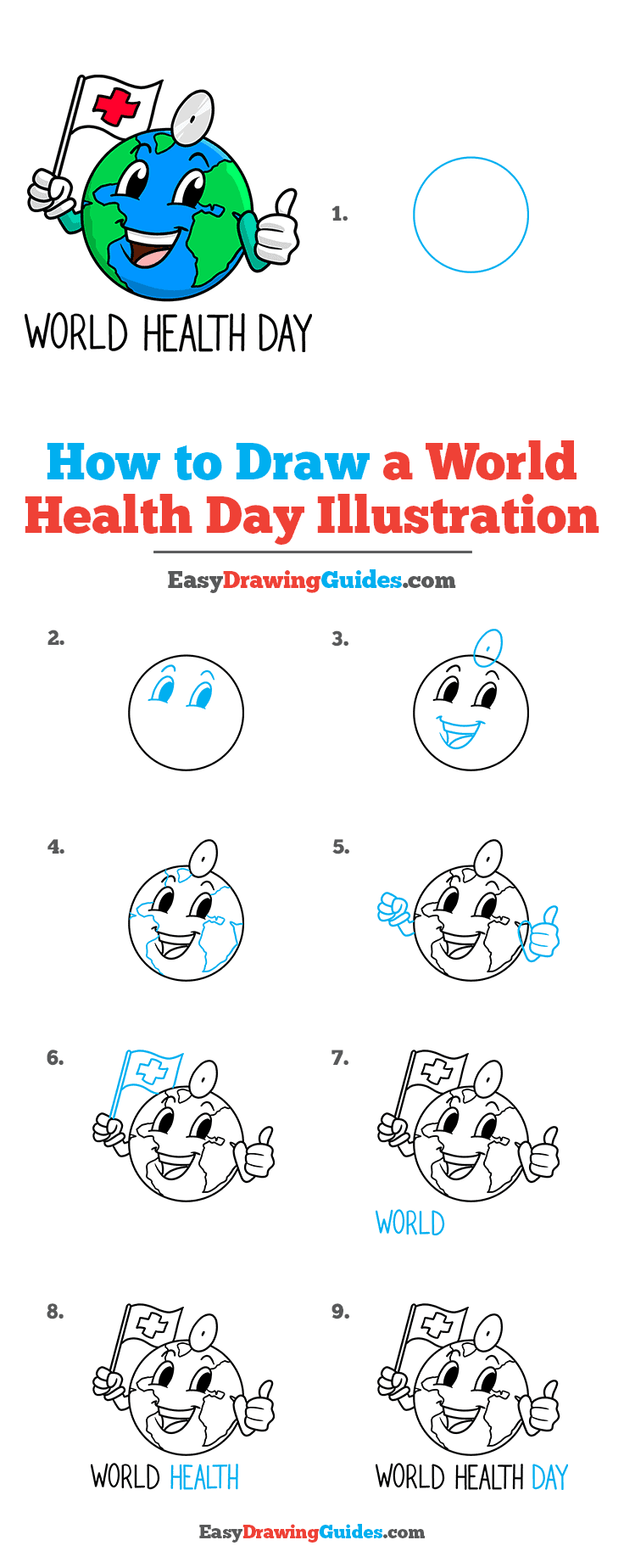 How to Draw World Health Day Illustration