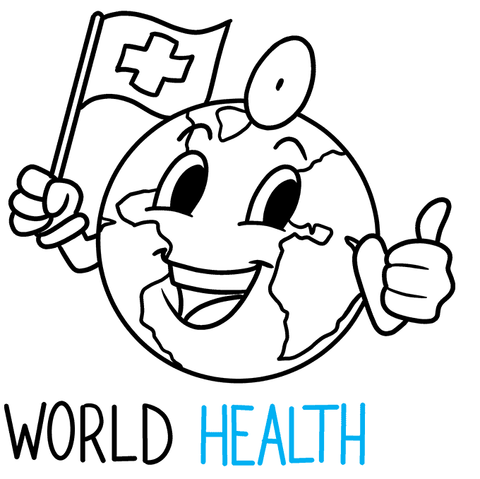 How to Draw World Health Day Illustration: Step 8