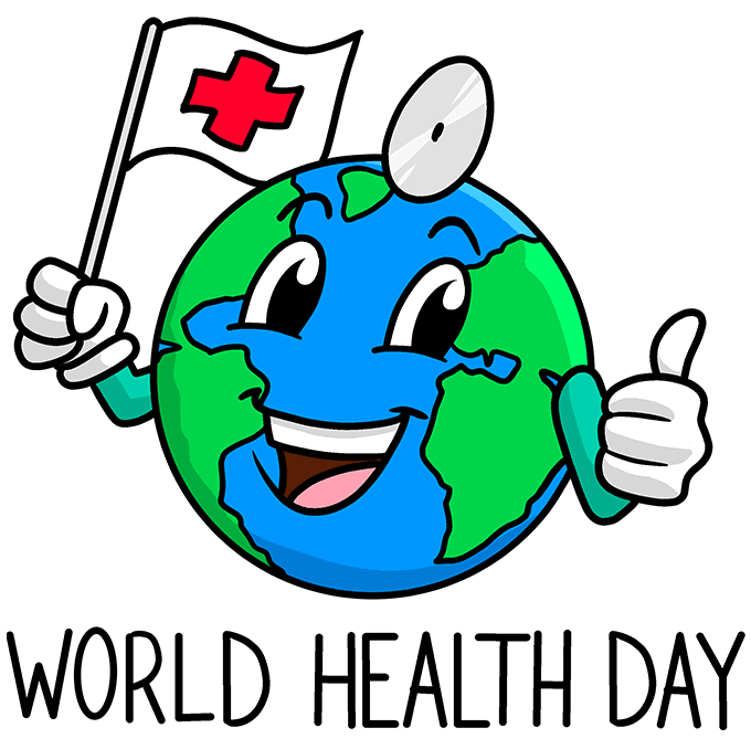 How to Draw World Health Day Illustration: Step 10