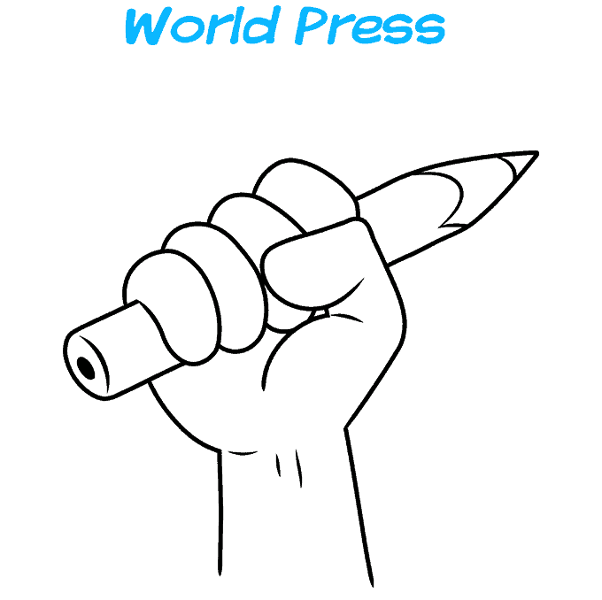 How to Draw a World Press Freedom Day Step 08