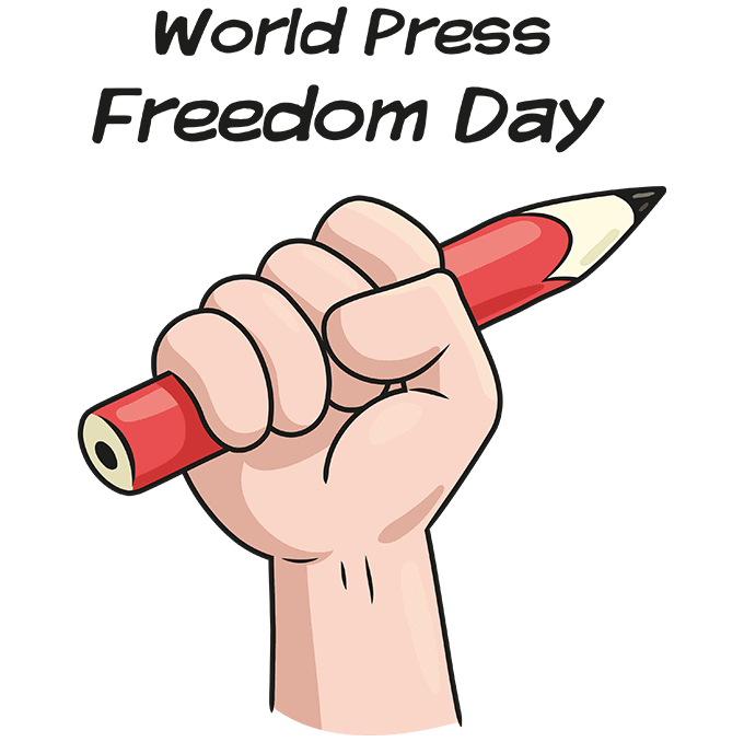 How to Draw a World Press Freedom Day Step 10