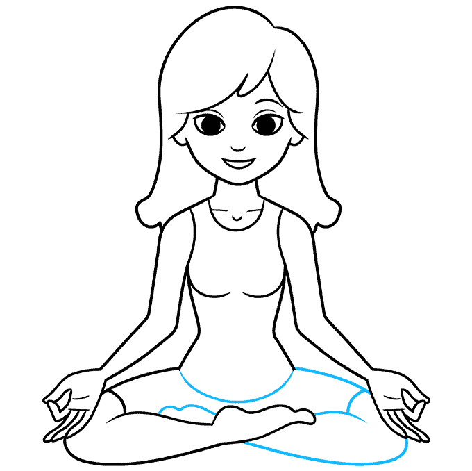 How to Draw a Yoga Pose Step 09
