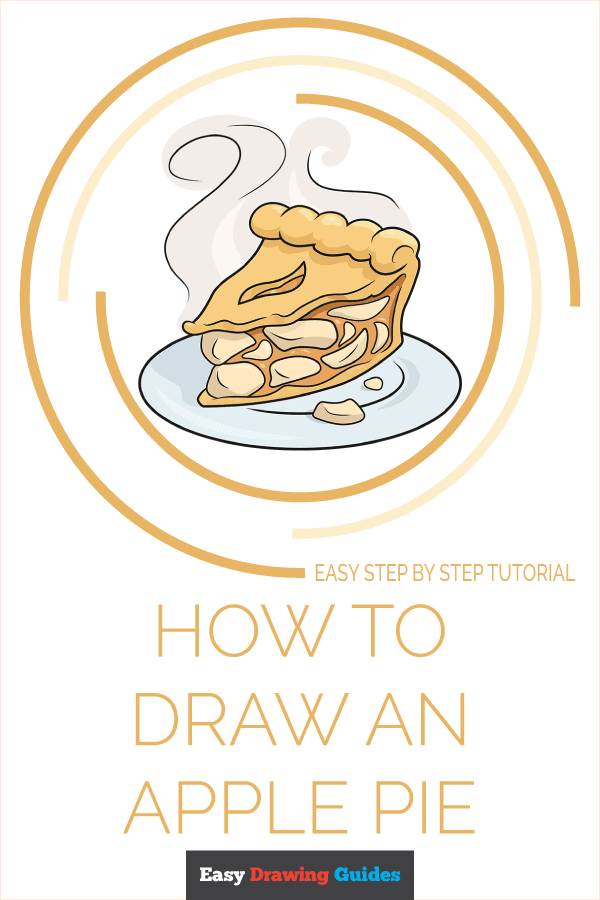 How to Draw an Apple Pie Pinterest Image