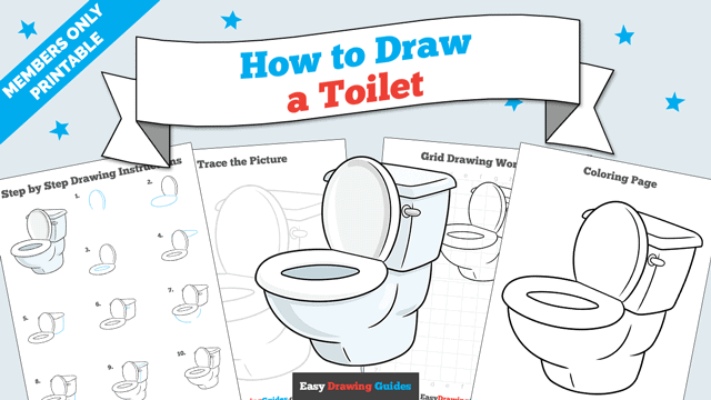 download a printable PDF of Toilet drawing tutorial