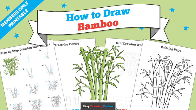 download a printable PDF of Bamboo drawing tutorial