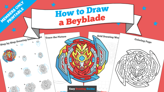 Printables thumbnail: How to Draw a Beyblade