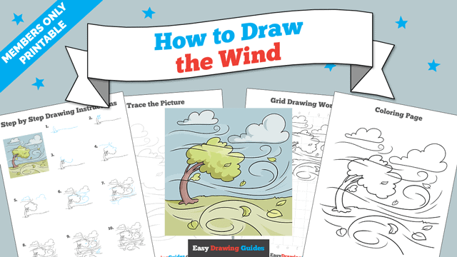 Printables thumbnail: How to Draw the Wind