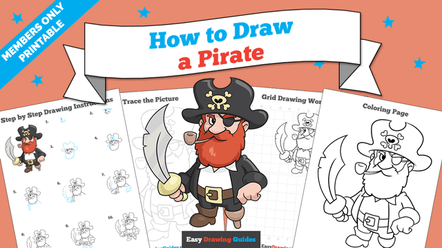Printables thumbnail: How to Draw a Pirate