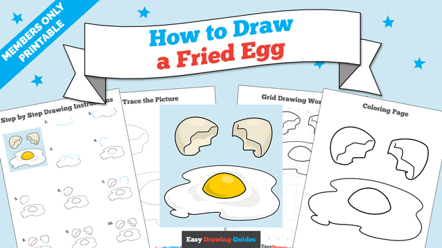 Printables thumbnail: How to Draw a Fried Egg