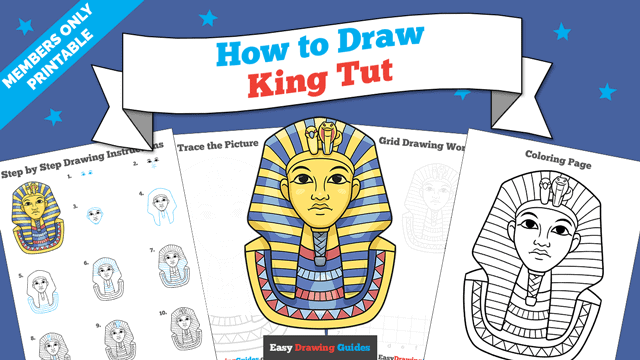 Printables thumbnail: How to Draw King Tut