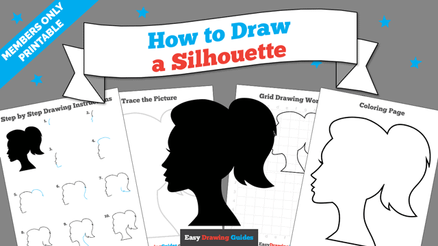 Printables thumbnail: How to Draw a Silhouette