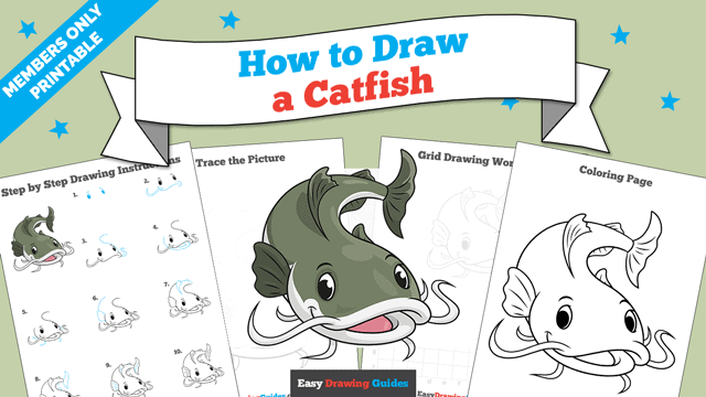 Printables thumbnail: How to Draw a Catfish