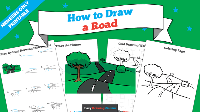 download a printable PDF of Road drawing tutorial
