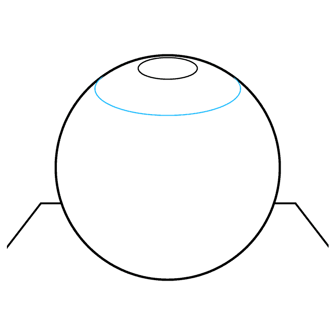 How to Draw a 3D Sphere Step 04