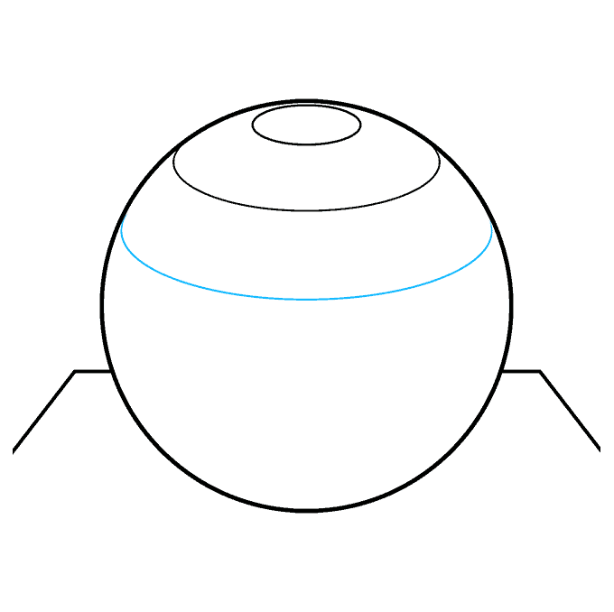 How to Draw a 3D Sphere Step 05
