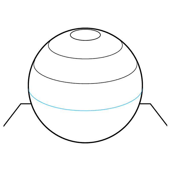How to Draw a 3D Sphere Step 06