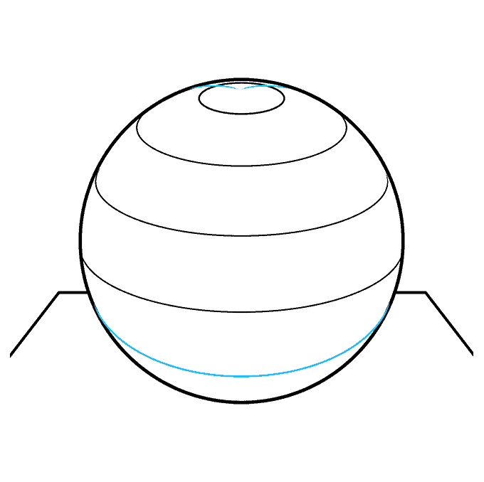 How to Draw a 3D Sphere Step 07