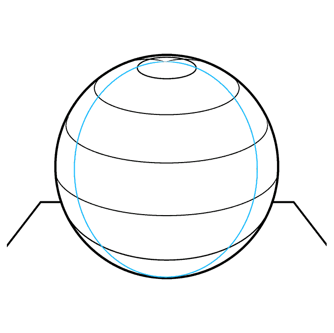 How to Draw a 3D Sphere Step 08