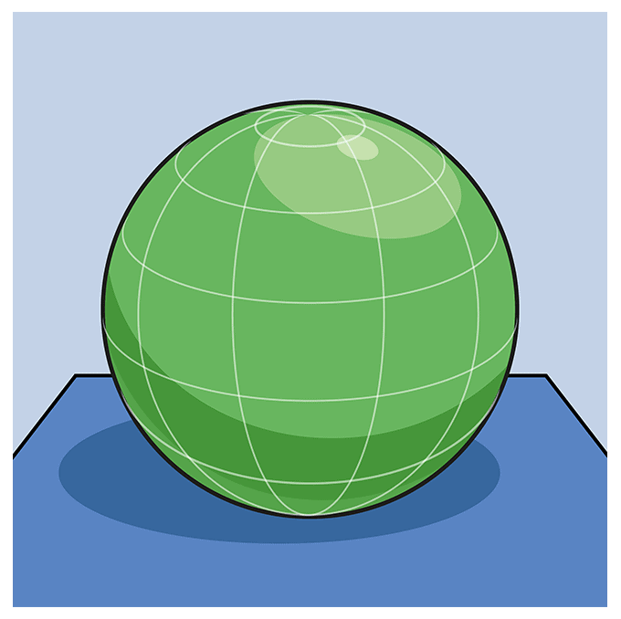 How to Draw a 3D Sphere Step 10
