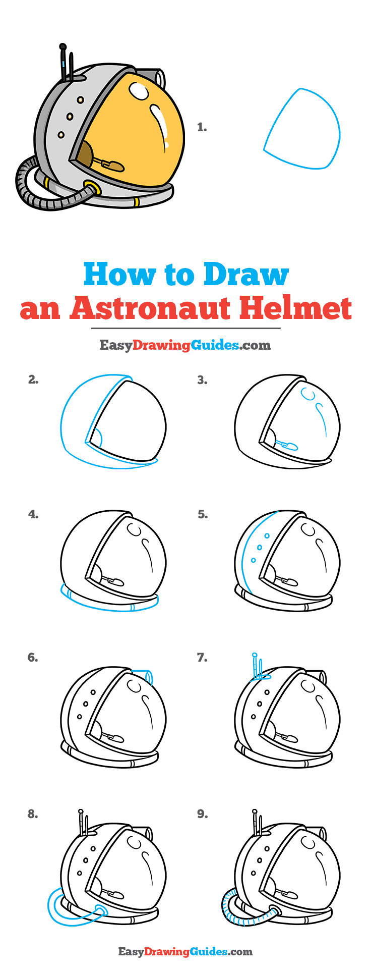 How to Draw Astronaut Helmet