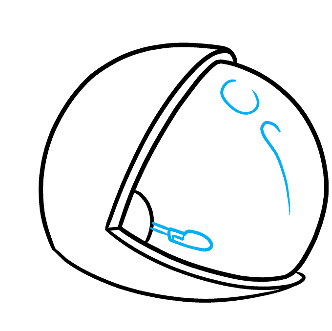 How to Draw Astronaut Helmet: Step 3