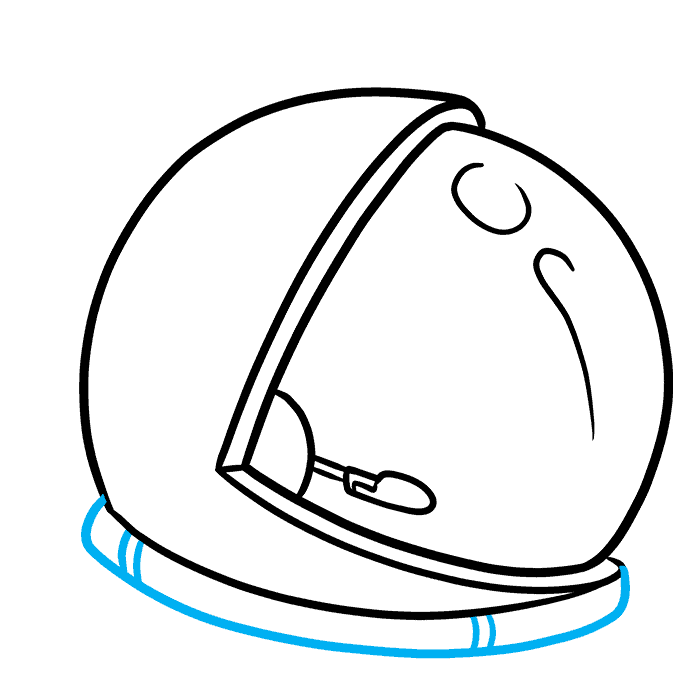 How to Draw Astronaut Helmet: Step 4