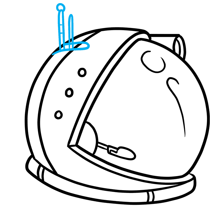 How to Draw Astronaut Helmet: Step 7