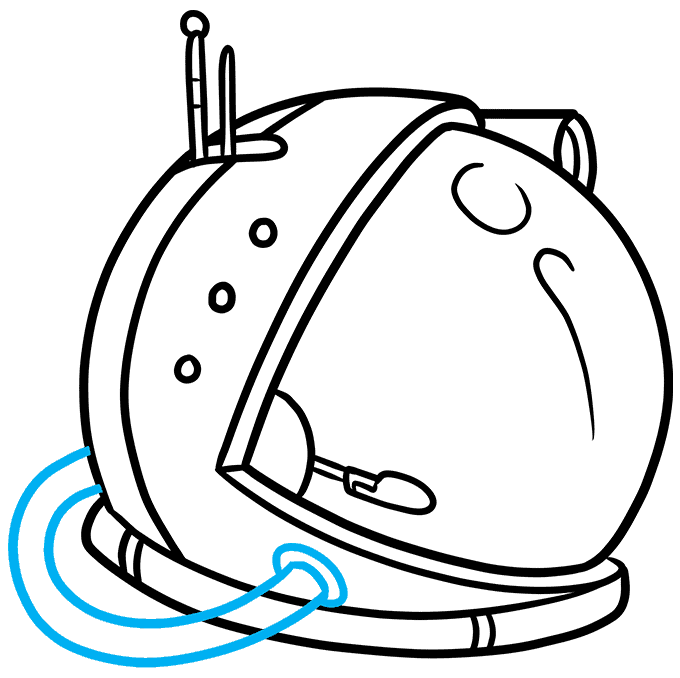 How to Draw Astronaut Helmet: Step 8