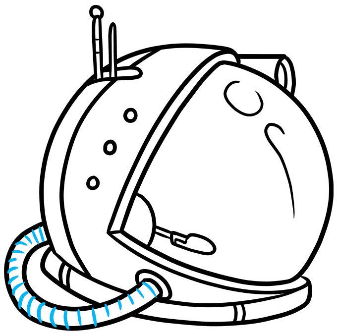 How to Draw Astronaut Helmet: Step 9