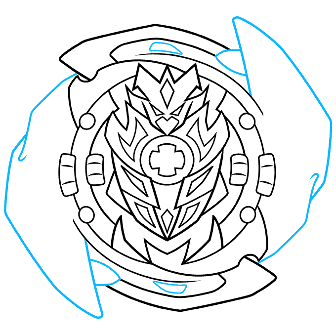 How to Draw a Beyblade Step 07