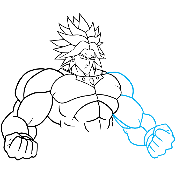 How to Draw Broly: Step 7