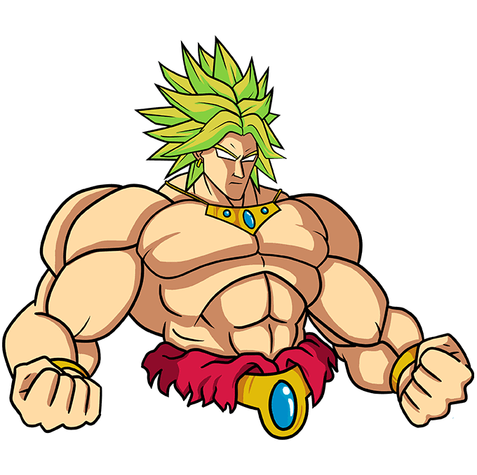 How to Draw Broly: Step 10
