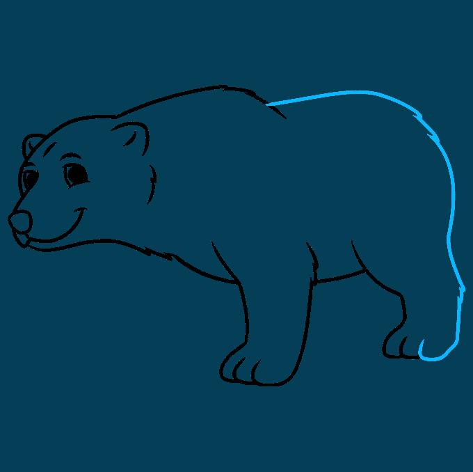 How to Draw a Cartoon Polar Bear Step 07