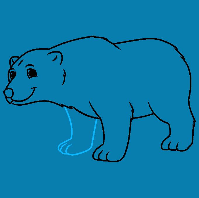 How to Draw a Cartoon Polar Bear Step 08