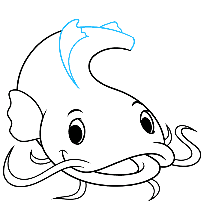 How to Draw a Catfish Step 07