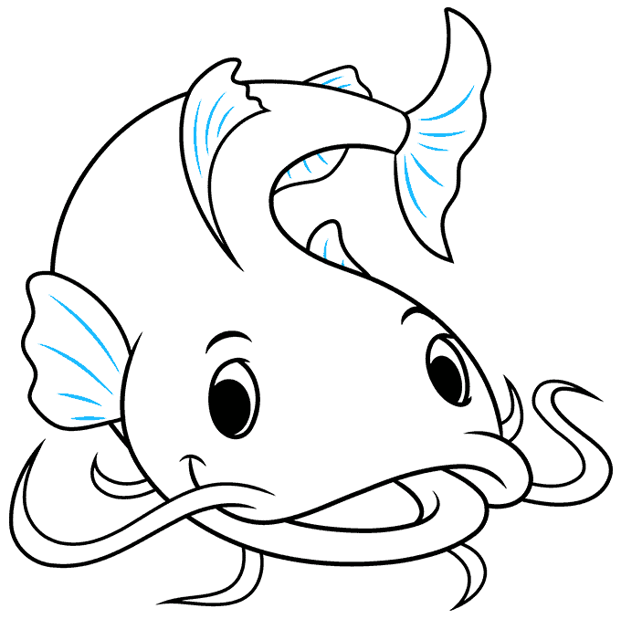 How to Draw a Catfish Step 09