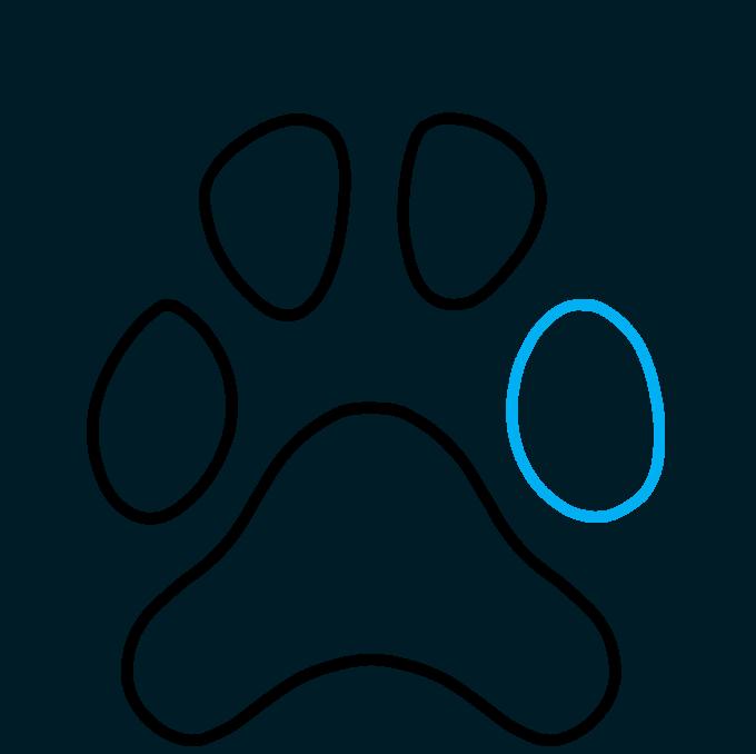 How to Draw Dog Paw Print: Step 5