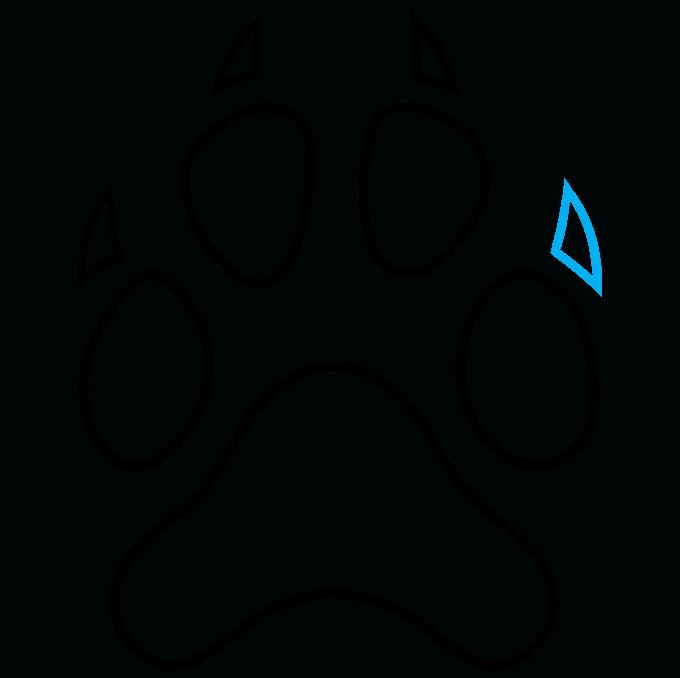 How to Draw Dog Paw Print: Step 9