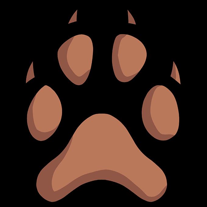 How to Draw Dog Paw Print: Step 10