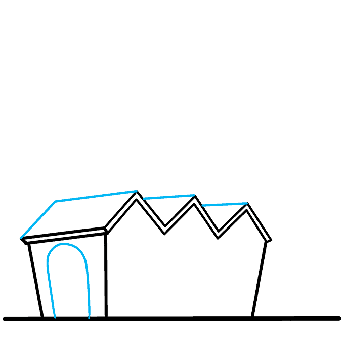 How to Draw Factory: Step 3