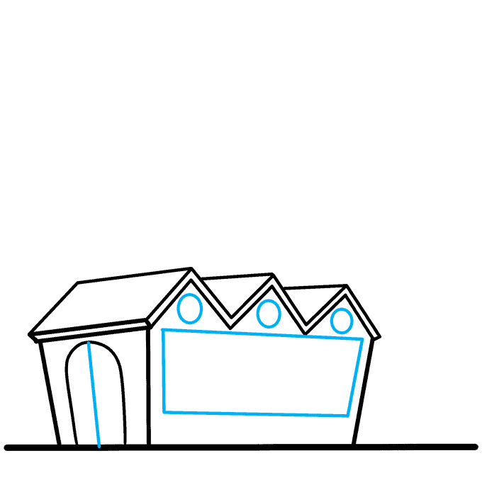 How to Draw Factory: Step 4