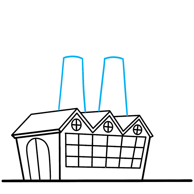 How to Draw Factory: Step 6
