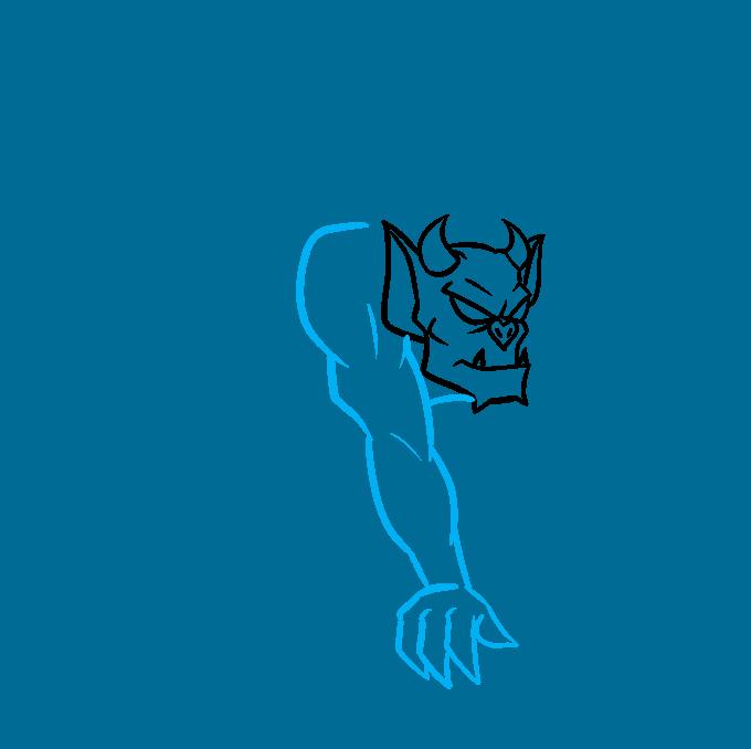 How to Draw a Gargoyle Step 03