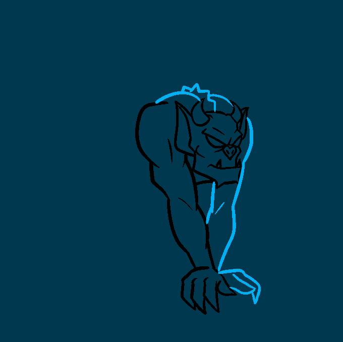 How to Draw a Gargoyle Step 04