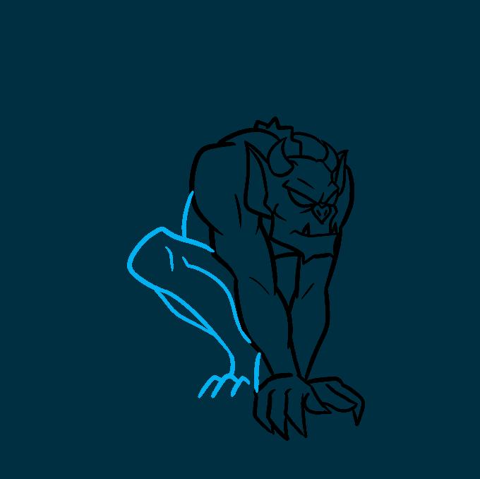 How to Draw a Gargoyle Step 05