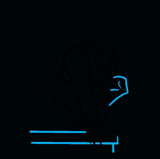 How to Draw a Gargoyle Step 06